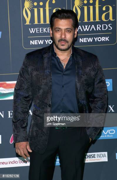Actor Salman Khan attends the 2017 International Indian Film Academy Festival at MetLife Stadium on July 14 2017 in East Rutherford New Jersey
