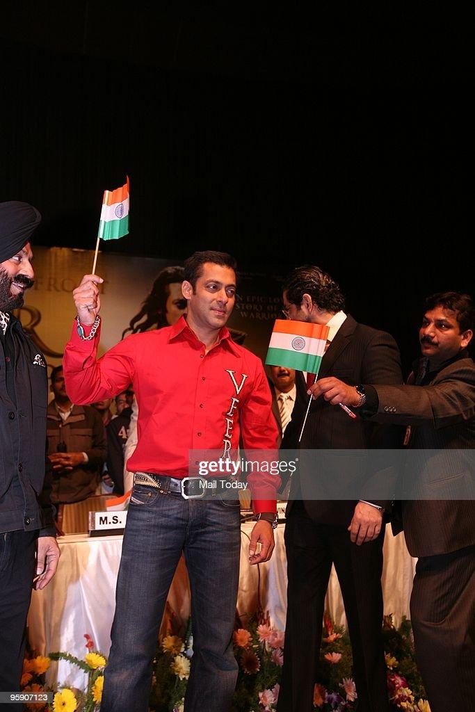 Actor Salman Khan during Anti Terrorist Veer Bravery Awards