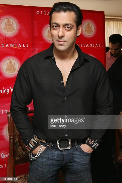 Actor Salman Khan launches Gitanjali Group's 'Being Human' gold and silver coins as the gift of festive season in New Delhi on Wednesday