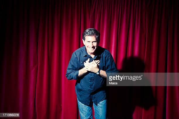 Actor saluting