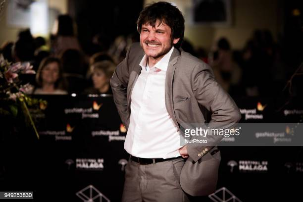 Actor Salva Reina attends 'Casi 40' premiere during the 21th Malaga Film Festival at the Cervantes Theater on April 20 2018 in Malaga Spain
