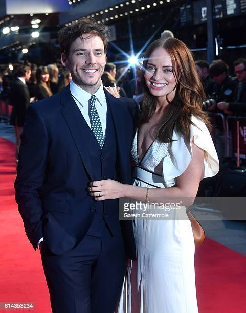 Actor Sam Claflin and Laura Haddock attend 'Their Finest' Mayor's Centrepiece Gala screening during the 60th BFI London Film Festival at Odeon...