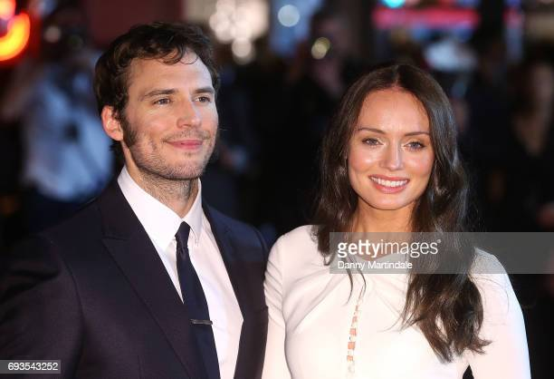 """Actor Sam Claflin and Laura Haddock attends the World Premiere of """"My Cousin Rachel"""" at Picturehouse Central on June 7, 2017 in London, England."""