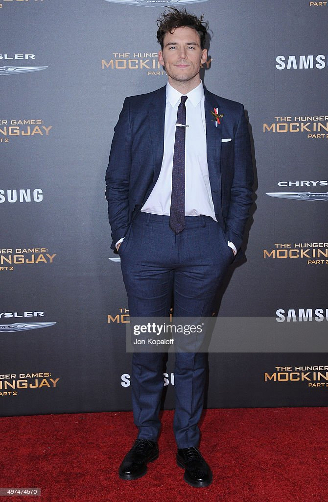 Actor Sam Claflin arrives at the Los Angeles Premiere Of Lionsgate's 'The Hunger Games: Mockingjay - Part 2' at Microsoft Theater on November 16, 2015 in Los Angeles, California.