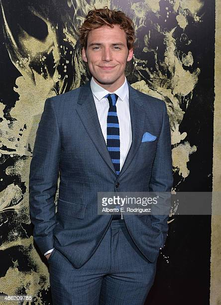 Actor Sam Claflin arrives to the Los Angeles Premiere of Lionsgate Films' The Quiet Ones at The Theatre At Ace Hotel on April 22 2014 in Los Angeles...