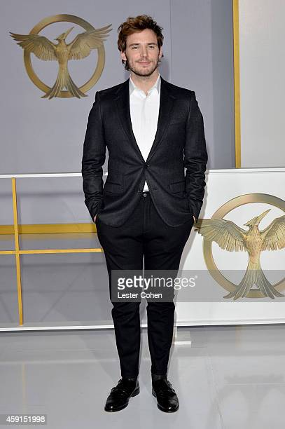 Actor Sam Claflin attends The Hunger Games Mockingjay Part 1 Los Angeles Premiere at Nokia Theatre LA Live on November 17 2014 in Los Angeles...