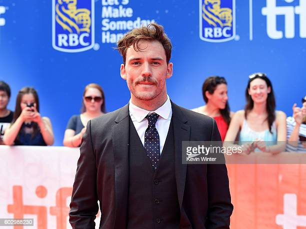 """Actor Sam Claflin attends the """"Their Finest"""" premiere during the 2016 Toronto International Film Festival at Roy Thomson Hall on September 11, 2016..."""