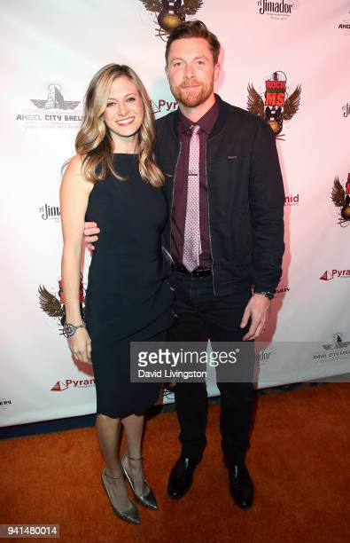 Actor Sam Daly and wife Marissa Bataille attend the 6th Annual Rock Against MS benefit concert and award show at the Los Angeles Theatre on March 31...