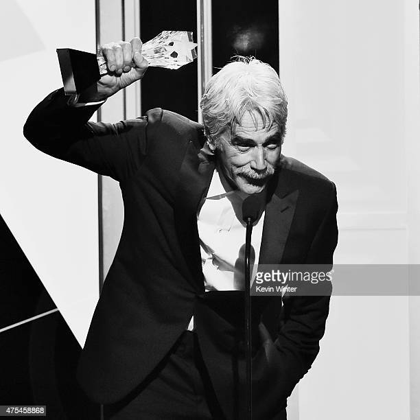 Actor Sam Elliott accepts the Best Guest Performer in a Drama Series award for Justified onstage during the 5th Annual Critics' Choice Television...