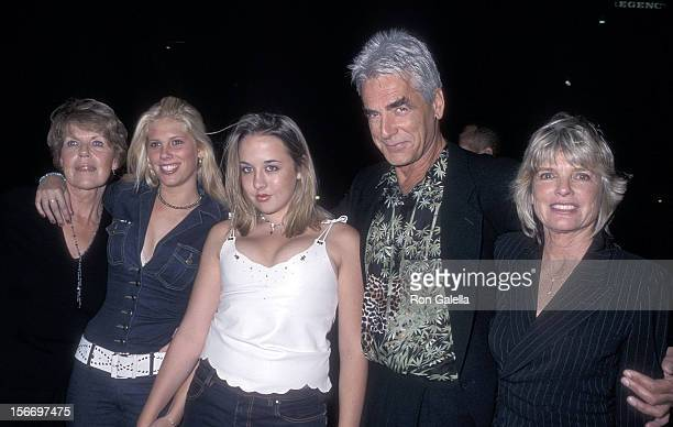 "Actor Sam Elliott, actress Katharine Ross, daughter Cleo Rose Elliott and family attend ""The Contender"" Westwood Premiere on October 5, 2000 at the..."