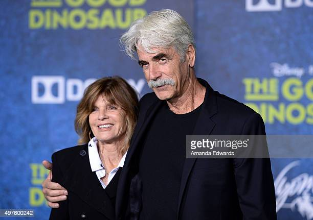 "Actor Sam Elliott and actress Katharine Ross arrive at the premiere of Disney-Pixar's ""The Good Dinosaur"" on November 17, 2015 in Hollywood,..."