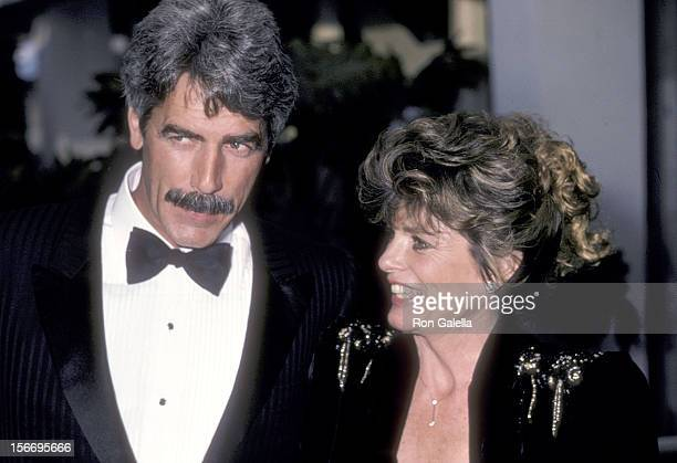 Actor Sam Elliott and actress Katharine Ross attend the 12th Annual People's Choice Awards on March 11, 1986 at the Santa Monica Civic Auditorium in...