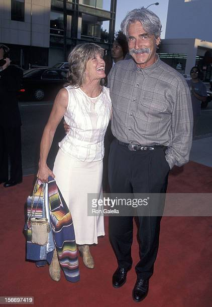 """Actor Sam Elliott and actress Katharine Ross attend the Screening of the TNT Original Movie """"Rough Riders"""" on July 17, 1997 at the Academy Theatre in..."""
