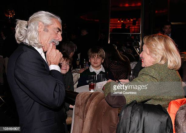 Actor Sam Elliott and columnist Liz Smith at the New York premiere afterparty for The Golden Compass at the Rainbow Room on December 2 2007 in New...