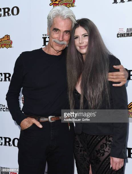 Actor Sam Elliott and daughter Cleo Rose Elliott arrive at the Los Angeles premiere of 'The Hero' at the Egyptian Theatre on June 5, 2017 in...