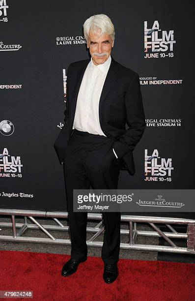 Actor Sam Elliott attends the opening night premiere of 'Grandma' during the 2015 Los Angeles Film Festival at Regal Cinemas L.A. Live on June 10,...