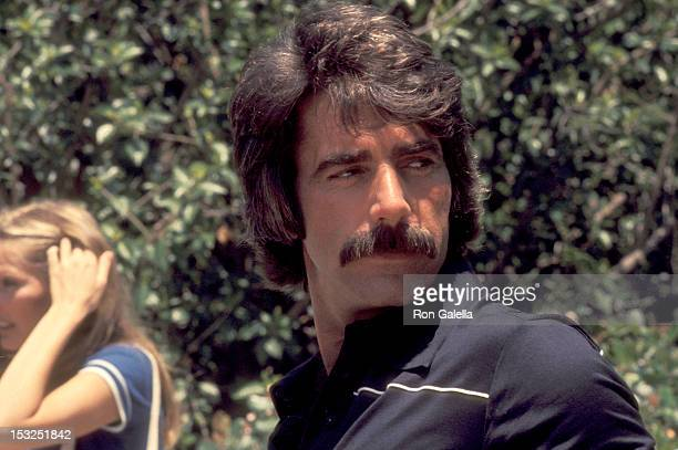 Actor Sam Elliott attends the Tennis and Crumpet Tournament Hosted by Hugh Hefner on May 21 1977 at Playboy Mansion in Beverly Hills California