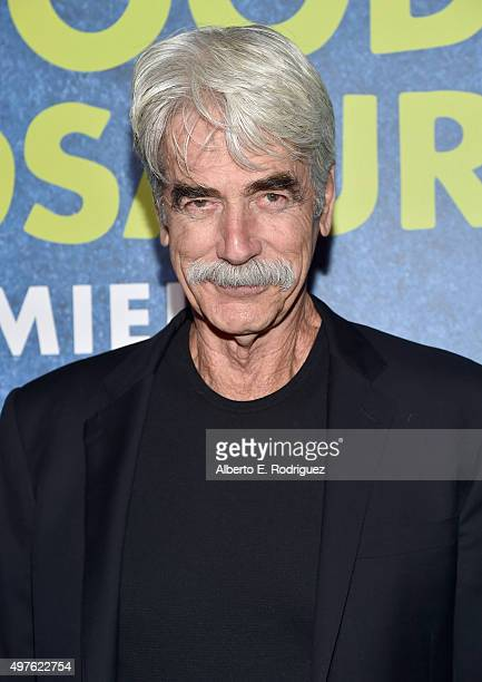 Actor Sam Elliott attends the World Premiere Of Disney-Pixar's THE GOOD DINOSAUR at the El Capitan Theatre on November 17, 2015 in Hollywood,...
