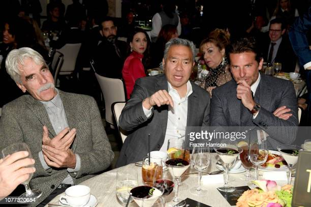 Actor Sam Elliott Chairman and Chief Executive Officer of Warner Bros Kevin Tsujihara and directorproduceractor Bradley Cooper attend the 19th Annual...