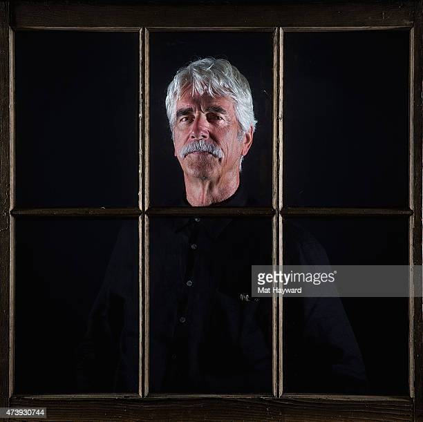 Actor Sam Elliott poses for a portrait behind a window during the Seattle International Film Festival at the W hotel on May 18 2015 in Seattle...