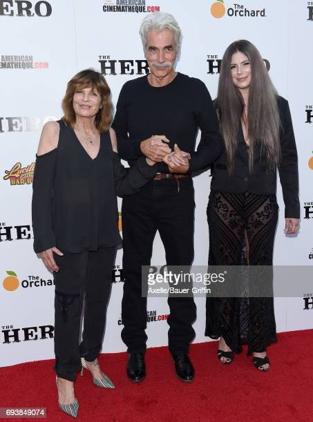 Actor Sam Elliott, wife Katharine Ross and daughter Cleo Rose Elliott arrive at the Los Angeles premiere of 'The Hero' at the Egyptian Theatre on...