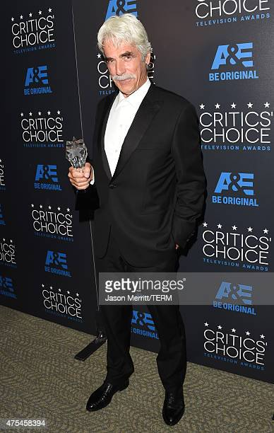 Actor Sam Elliott winner of Best Guest Performer in a Drama poses in the press room at the 5th Annual Critics' Choice Television Awards at The...