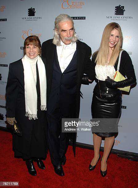 "Actor Sam Elliott with his wife Katherine Rose and daughter Cleo Rose attend ""The Golden Compass"" premiere hosted by New Line Cinema at the Ziegfeld..."