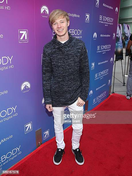 Actor Sam Golbach arrives for a special screening of Be Somebody at Arclight Cinemas on June 9 2016 in Hollywood California The Film arrives in...