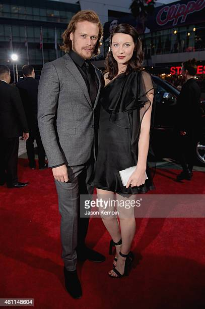 Actor Sam Heughan and actress Caitriona Balfe attend The 41st Annual People's Choice Awards at Nokia Theatre LA Live on January 7, 2015 in Los...