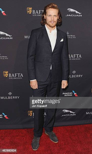Actor Sam Heughan arrives at the 2015 BAFTA Tea Party at The Four Seasons Hotel on January 10 2015 in Beverly Hills California