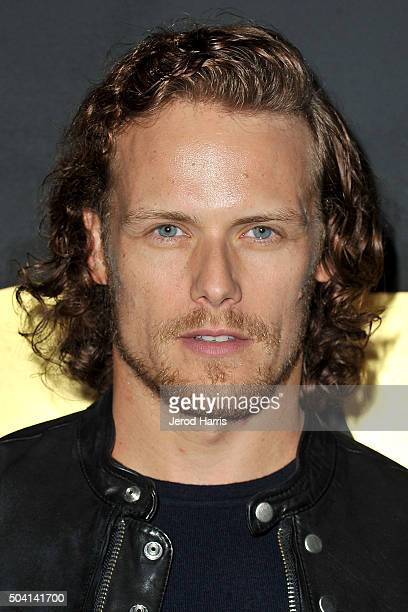 Actor Sam Heughan arrives at the STARZ PreGolden Globe Celebration at Chateau Marmont on January 8 2016 in Los Angeles California