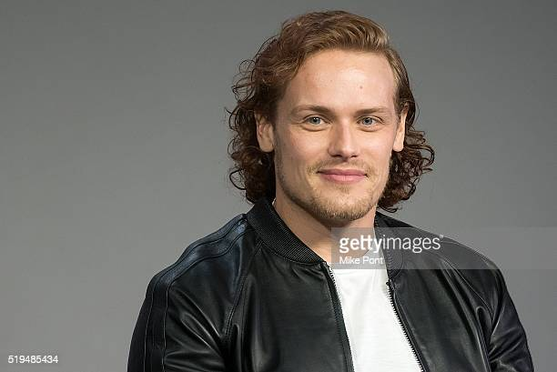 Actor Sam Heughan attends Apple Store Soho Presents Meet the Cast 'Outlander' at Apple Store Soho on April 6 2016 in New York City