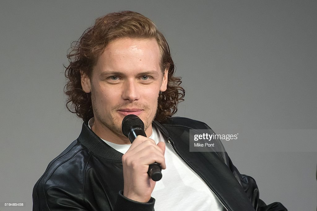 Actor Sam Heughan attends Apple Store Soho Presents Meet the Cast: 'Outlander' at Apple Store Soho on April 6, 2016 in New York City.