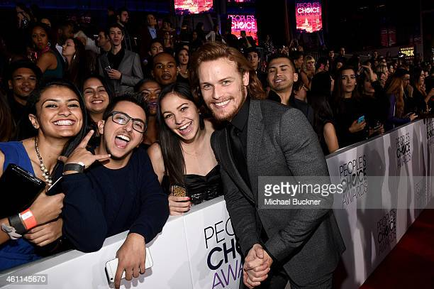 Actor Sam Heughan attends The 41st Annual People's Choice Awards at Nokia Theatre LA Live on January 7 2015 in Los Angeles California