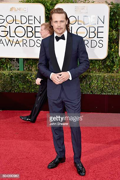 Actor Sam Heughan attends the 73rd Annual Golden Globe Awards held at the Beverly Hilton Hotel on January 10 2016 in Beverly Hills California