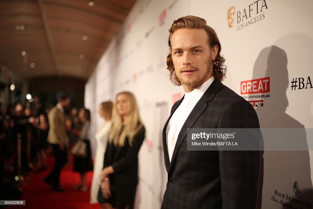 Actor Sam Heughan attends the BAFTA Los Angeles Awards Season Tea at Four Seasons Hotel Los Angeles at Beverly Hills on January 9, 2016 in Los Angeles, California.