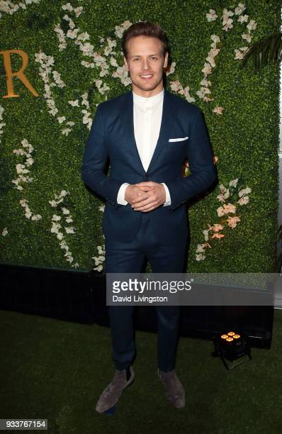 Actor Sam Heughan attends the For Your Consideration event for STARZ's Outlander at the Linwood Dunn Theater on March 18 2018 in Los Angeles...