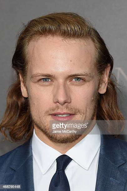 Actor Sam Heughan attends the Outlander midseason New York premiere at Ziegfeld Theater on April 1 2015 in New York City