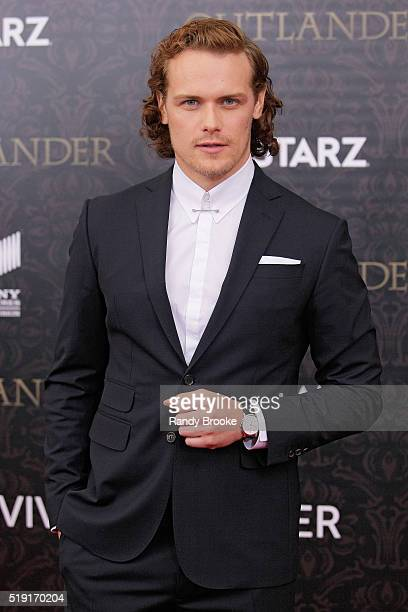 Actor Sam Heughan attends the Outlander Season Two World Premiere at the American Museum of Natural History on April 4 2016 in New York City