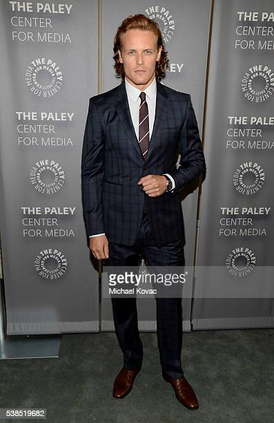 Actor Sam Heughan attends The Paley Center for Media presents The Artistry of 'Outlander' at The Paley Center for Media on June 6 2016 in Beverly...