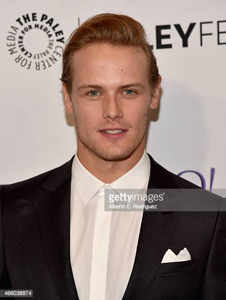 Actor Sam Heughan attends The Paley Center for Media's 32nd Annual PALEYFEST LA Outlander at Dolby Theatre on March 12 2015 in Hollywood California