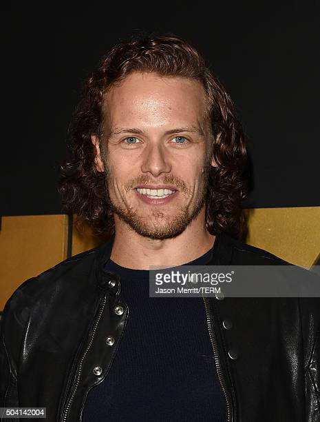 Actor Sam Heughan attends the STARZ PreGolden Globe Celebration at Chateau Marmont on January 8 2016 in Los Angeles California