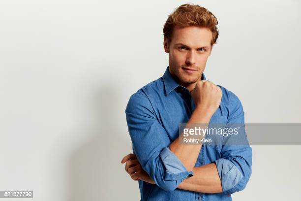 Actor Sam Heughan from Starz' 'Outlander' poses for a portrait during ComicCon 2017 at Hard Rock Hotel San Diego on July 21 2017 in San Diego...