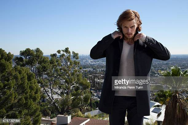 Actor Sam Heughan is photographed for Emmy Magazine on February 4 2015 in Los Angeles California