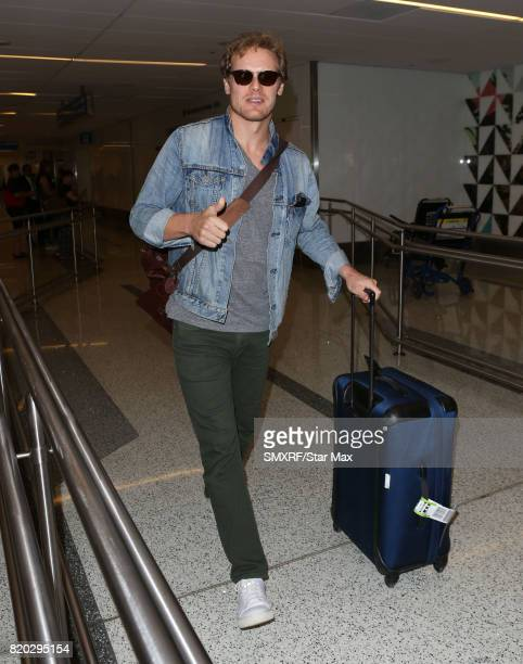 Actor Sam Heughan is seen on July 20 2017 in Los Angeles California