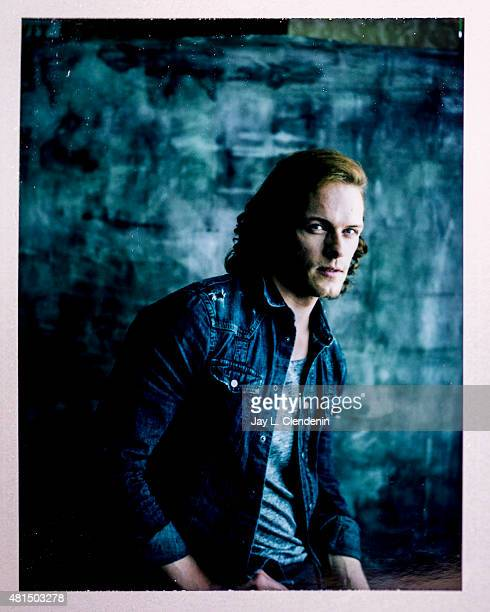 Actor Sam Heughan of 'Outlander' is photographed on polaroid film at ComicCon International 2015 for Los Angeles Times on July 9 2015 in San Diego...