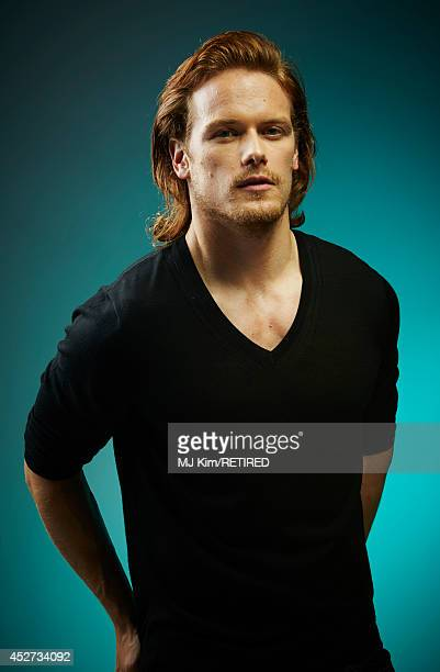 Actor Sam Heughan poses for a portrait at the Getty Images Portrait Studio powered by Samsung Galaxy at ComicCon International 2014 at Hard Rock...