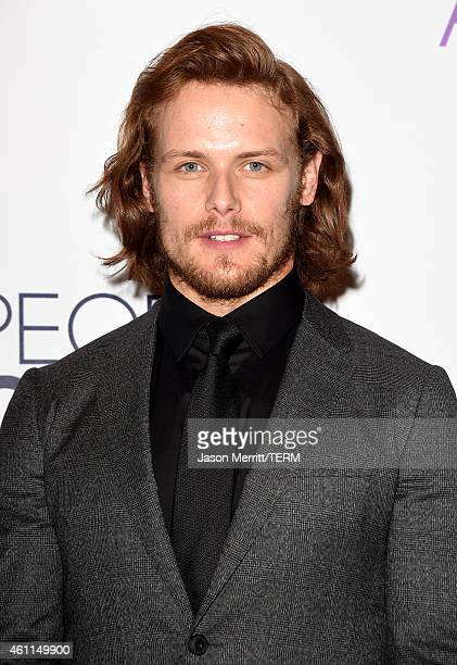 Actor Sam Heughan poses in the press room at The 41st Annual People's Choice Awards at Nokia Theatre LA Live on January 7 2015 in Los Angeles...
