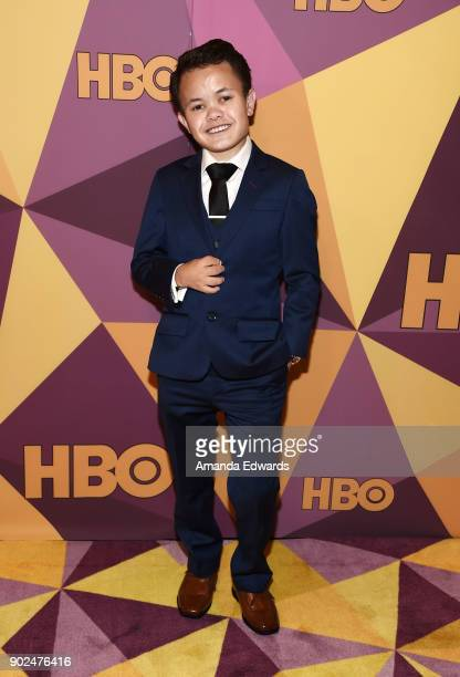 Actor Sam Humphrey arrives at HBO's Official Golden Globe Awards After Party at Circa 55 Restaurant on January 7 2018 in Los Angeles California