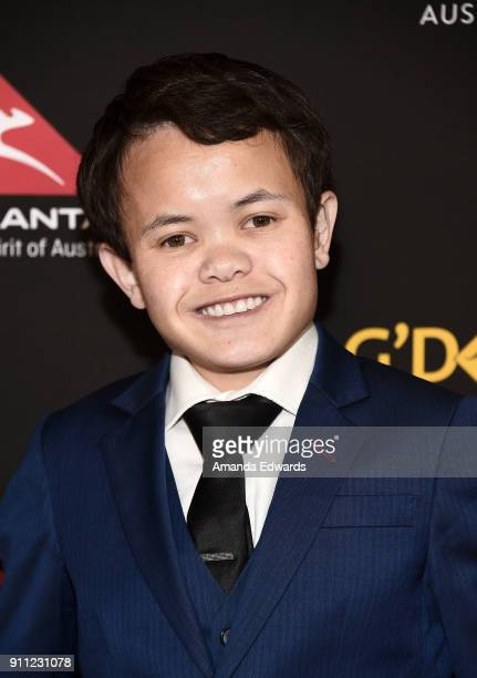 Actor Sam Humphrey arrives at the 2018 G'Day USA Los Angeles Black Tie Gala at the InterContinental Los Angeles Downtown on January 27 2018 in Los...